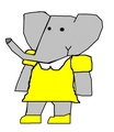 Rose - Andrew and Mina's Oldest Daughter - babar-the-elephant fan art