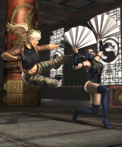 Shaolin Monks fighting Kitana