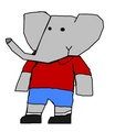 Tai - Andrew and Mina's Oldest Son - babar-the-elephant fan art