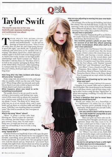 Taylor In Rolling Stone Australia Magazine Scans
