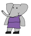 Young Mina - babar-the-elephant fan art