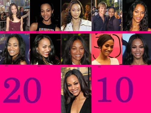 Zoe's Saldana Transformation 2000-2010