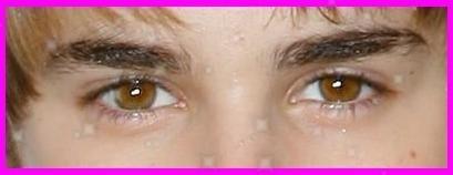 justin's eyes
