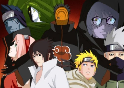 naruto and my frends