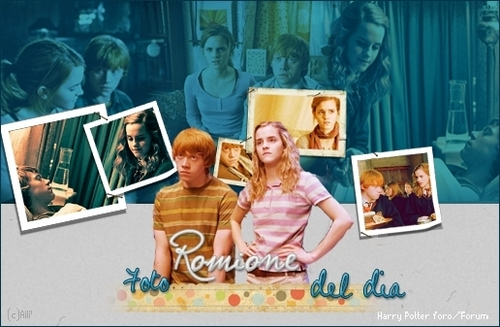 ron and hermione cute fanart