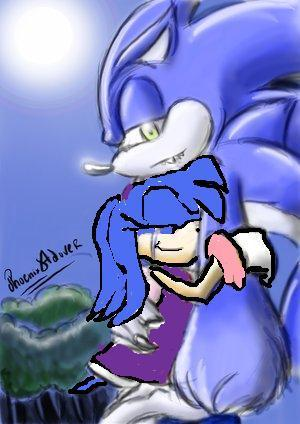 sonic werehog and crystal( me)(XD)