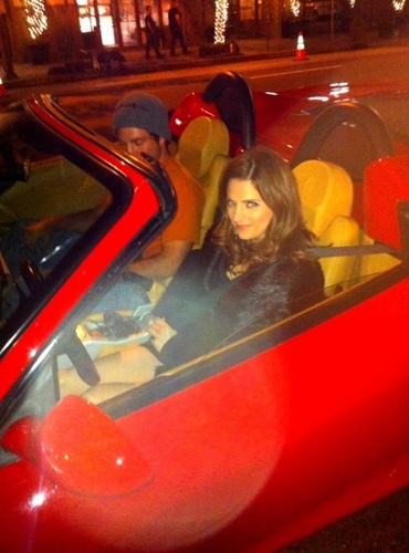 """Beckett got to drive a Ferrari yesterday! Yaya!!!"""