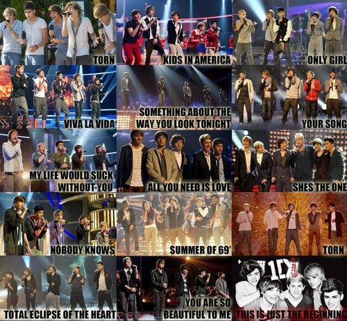 1D Every Song They Ave Sang (My True Winners) :) x