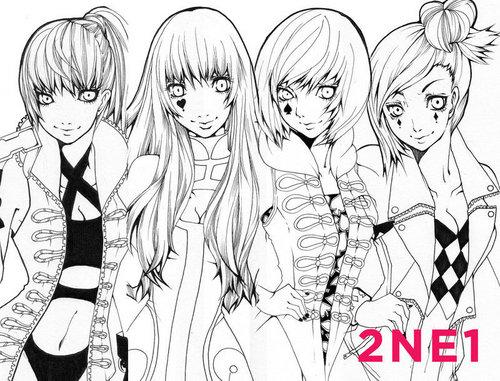 2NE1 팬 Art