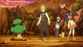 Ash, Iris, and Dento
