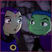 Beast Boy and Raven (From Teen Titans) - animated-couples icon