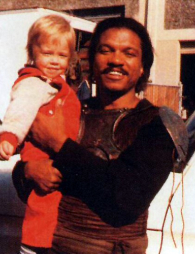Billy Dee Williams with Nathan Hamill( Mark's son)