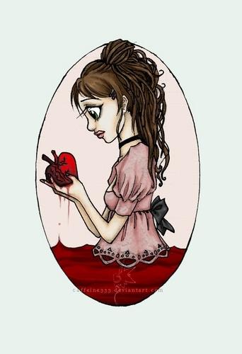 Black little hearts