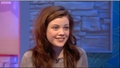 Blue Peter TV appearance - georgie-henley screencap