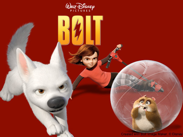 Bolt, Penny and Rhino - Exclusive picture!