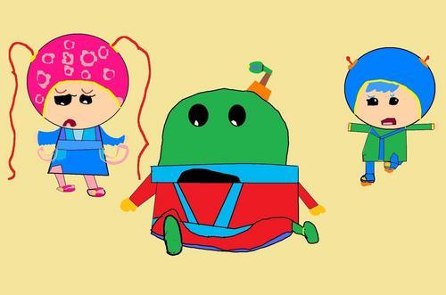 Bot Milli & Geo in Prince Spyler & Princess Kai-lan.