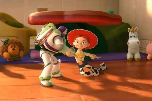 Jessie (Toy Story) wallpaper entitled Buzz and Jessie's dance