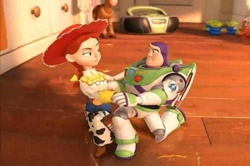Jessie (Toy Story) wallpaper titled Buzz and Jessie's dance