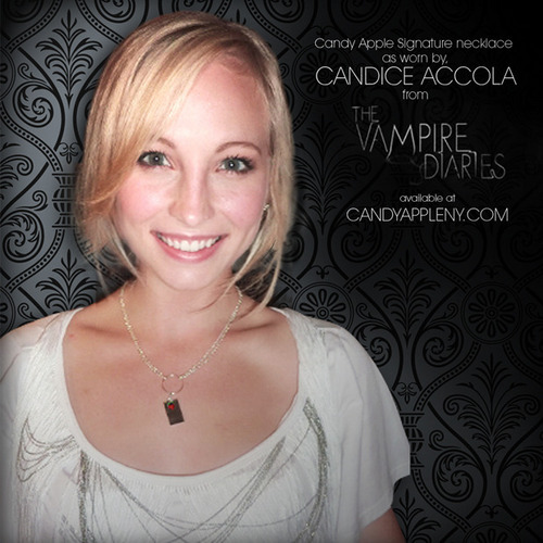 Candice on a caramelle mela, apple Jewelry Promotion Poster.