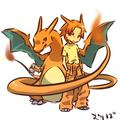 Charizard and Trainer