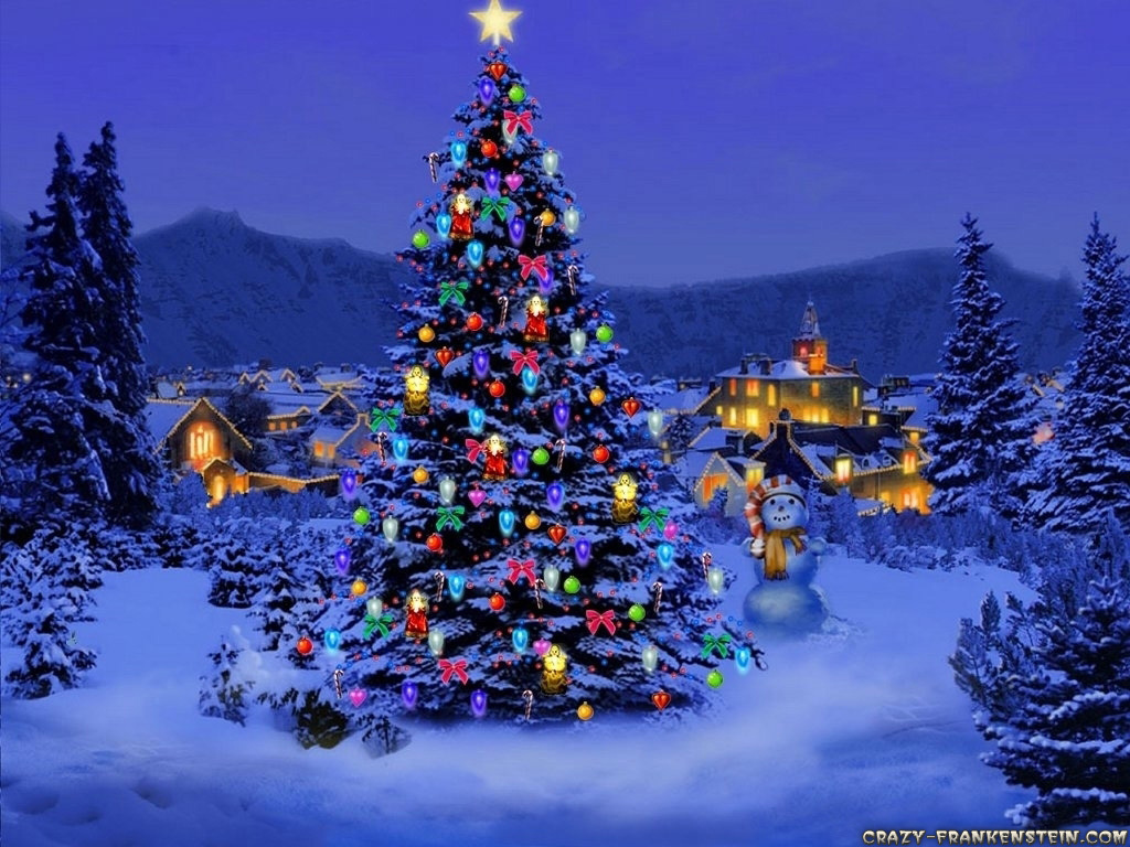 pretty christmas scene christmas wallpaper 17756625