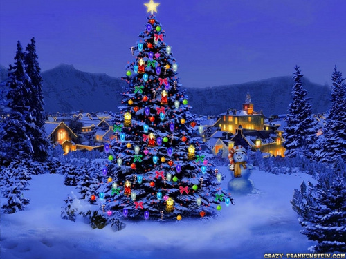 Pretty Christmas Scene - christmas Wallpaper