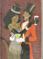 Clopin and Esmeralda as Zidler and Satine from Moulin Rouge