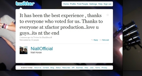 Cutie Niall Twit It's Not The End Of 1D (Glad To Hear About That) :) x