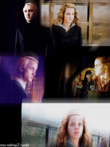 Dramione wallpaper probably containing a business suit titled Dramione - Fan Arts