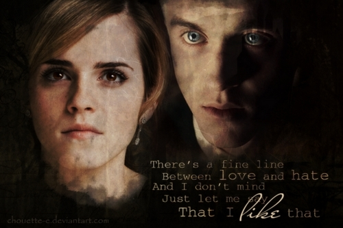 Dramione wallpaper probably containing a portrait titled Dramione - Fan Arts