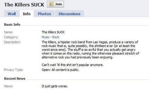 Even Facebook hates 'em