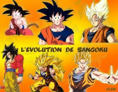 Evolution of Goku - dragon-ball-z Photo