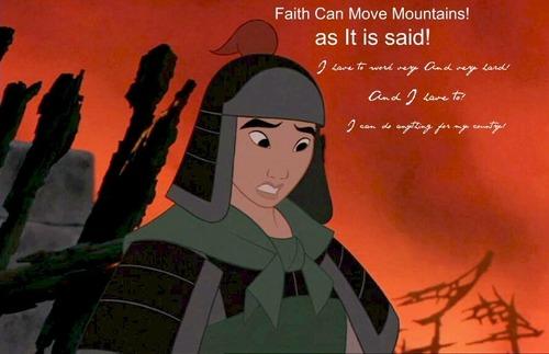 Faith can di chuyển mountains!