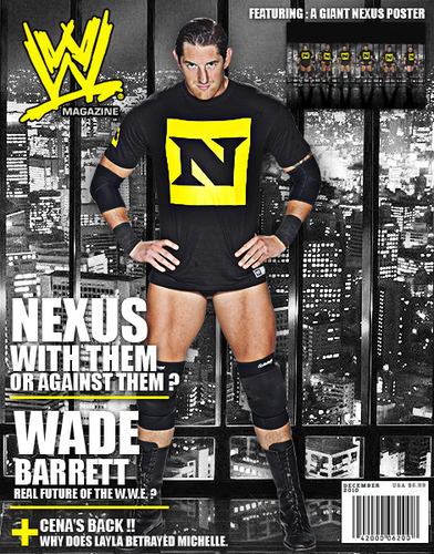 Wade Barrett wallpaper containing a hip boot entitled Fake WWE Magazine