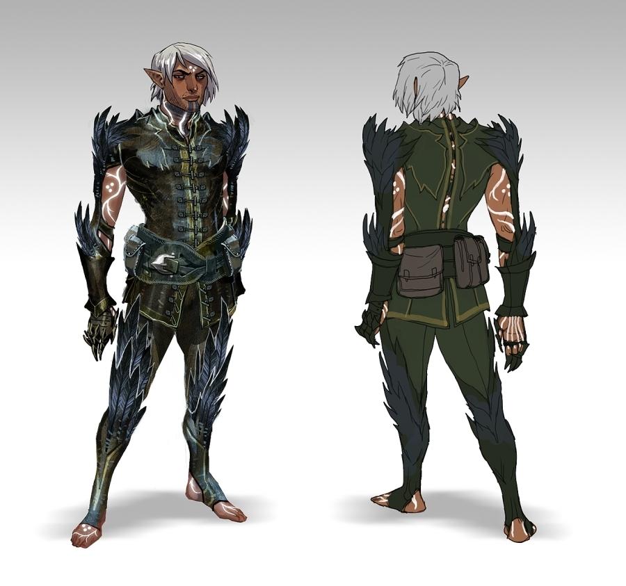 Fenris Concept Art - Dragon Age: Origins 900x843