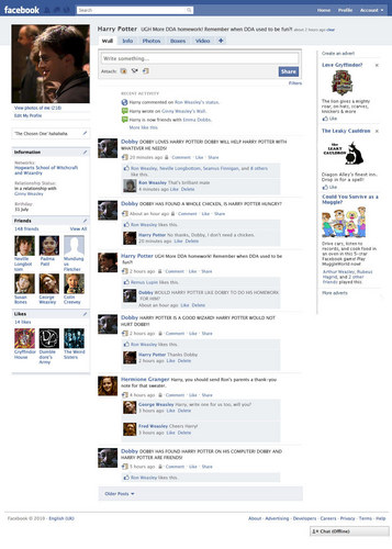 Harry Potter on 페이스북
