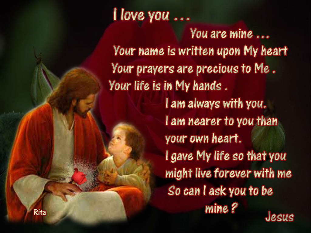 I Love You Quotes Christian : Christianity images Jesus Quotes HD wallpaper and background photos ...