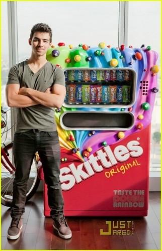 Joe Jonas Scores Skittles Vending Machine