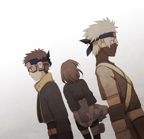 Kakashi, Rin and Obito