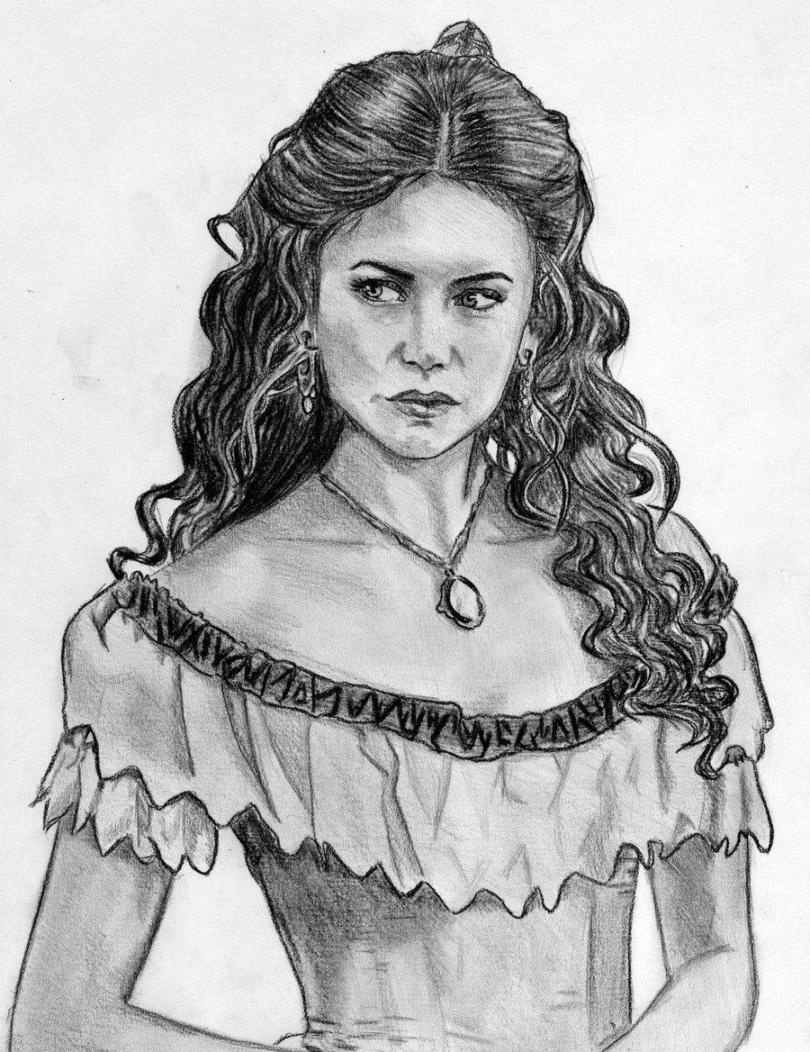 Katherine Pierce Katherine Pierce drawing