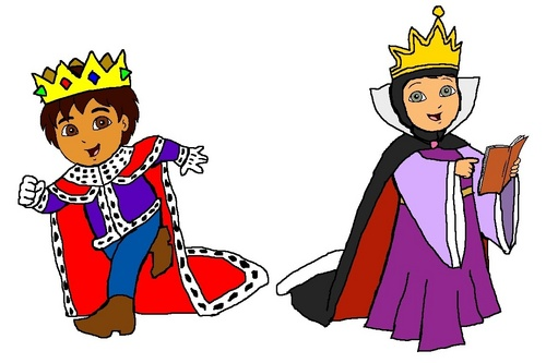 King Diego and Queen Alicia