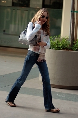Leaving The Newsroom Cafe In Beverly Hills 2004