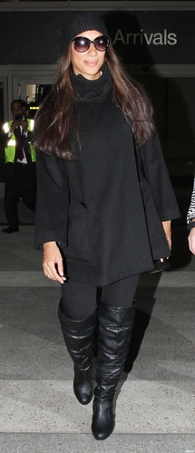 Leona arriving at LAX Airport 12/12/10