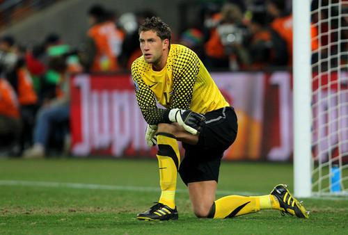 M. Stekelenburg playing for Holland