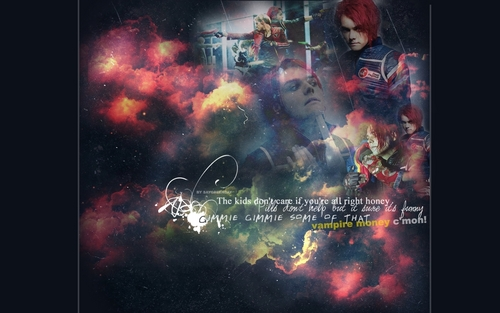 My Chemical Romance wallpaper containing anime titled MCR Wallpaper