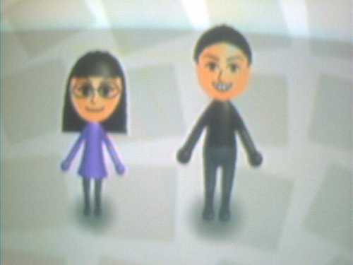Me and EmoCupCake in the Wii! ^.^