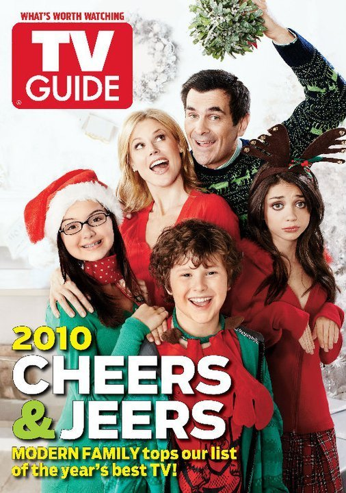modern family images modern family tv guide christmas cover hd wallpaper and background photos - Modern Family Christmas
