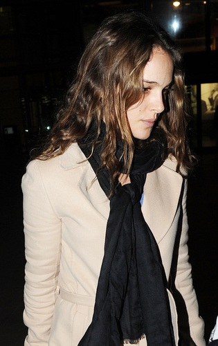 Natalie lands at Heathrow Airport, England