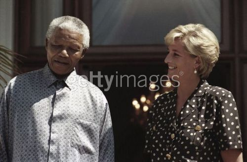 Nelson Mandela and Princess Diana