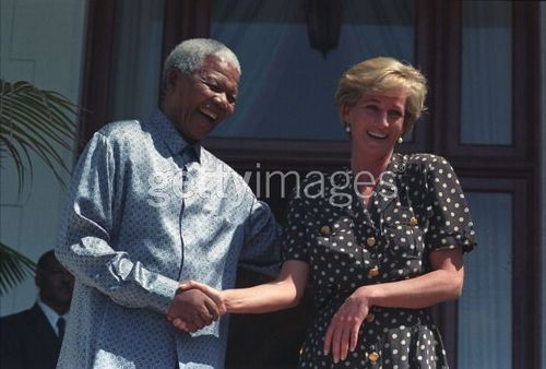 Princess Diana wallpaper called Nelson Mandela and Princess Diana